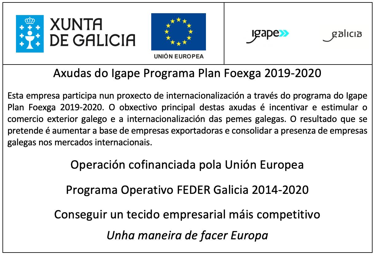 Axuda do Igape Programa Plan Foexga 2019-2020